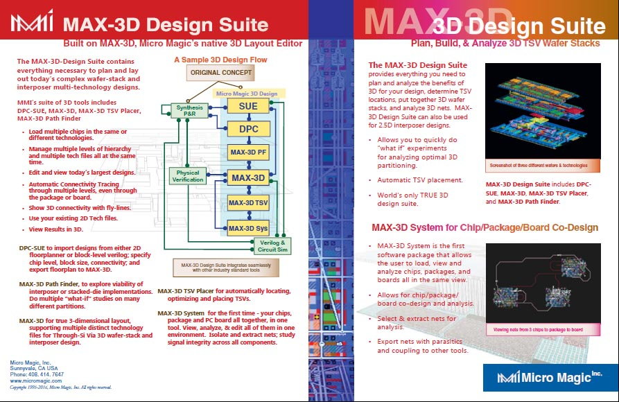 3D Design Suite Info sheet